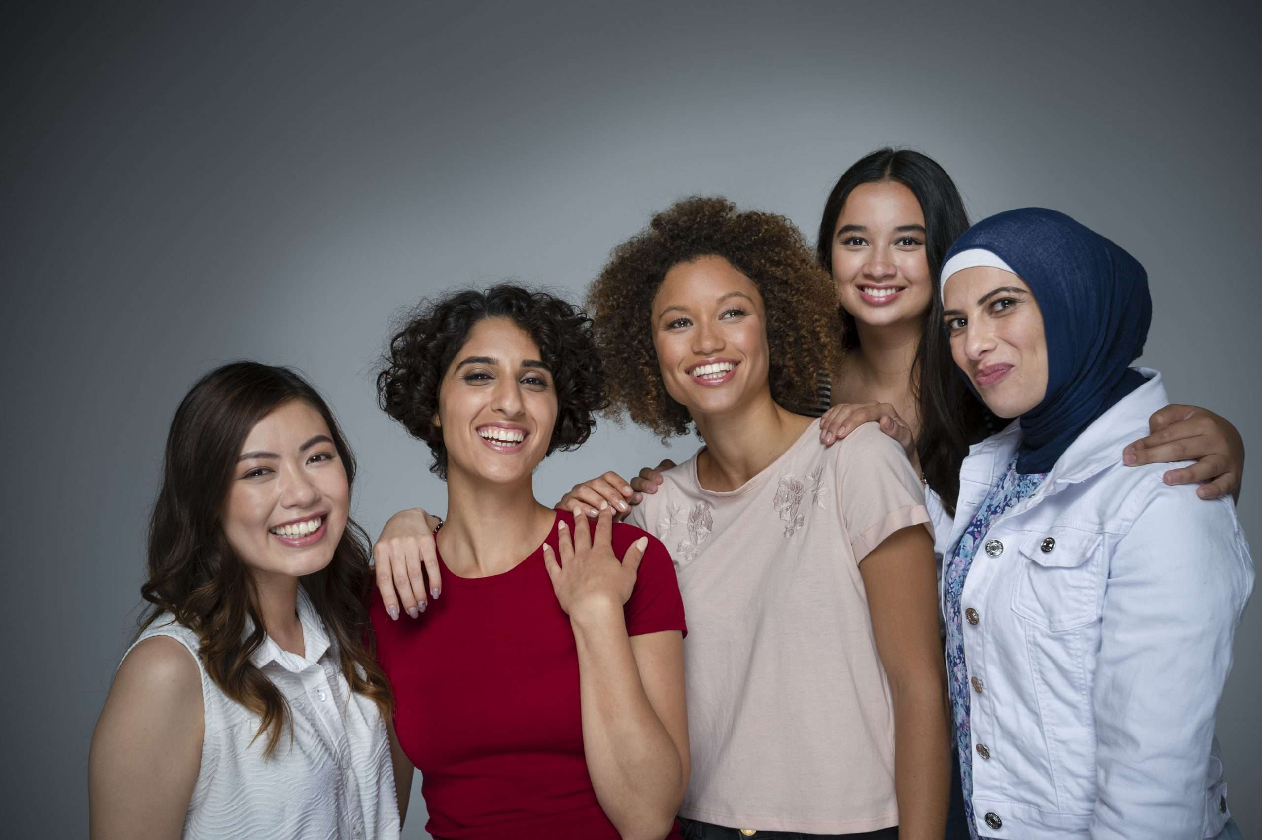 Portrait of a Group of women in the studio